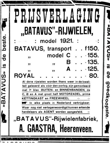 Advertentie Batavus